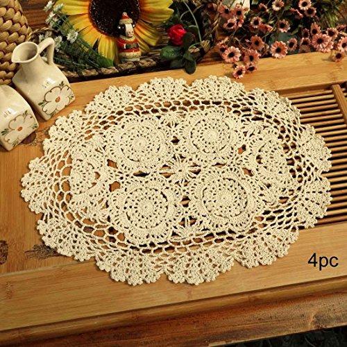 Phantomon Lace Doilies Handmade Crochet Placemats Cotton Doilies Cloth Lace,...