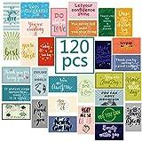 120 Pieces Motivational Encouragement Quote Cards Inspirational KindnessAppreciation GratitudeBusiness Cards Encouragement Mini Note Cards for Women Men Student Kids Teachers (30 Styles)