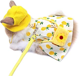 Alfie Pet - Mariah Harness and Leash Set for Small Animals Like Guinea Pigs and Rabbits - Color: Yellow, Size: Medium