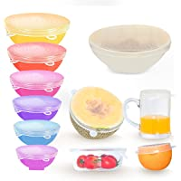 12-Pack LIANGDU Reusable Silicone Stretch Lids Bowl Covers in 6 Sizes