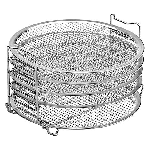 New Zhuhaixmy Dehydrator Rack Stand for 6.5-8QT Air Fryer Pressure Cooker Oven - Stainless Steel 5 L...