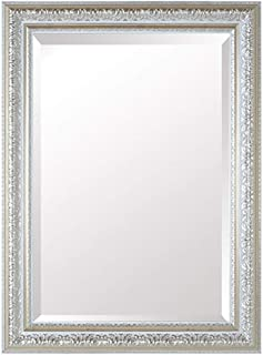 WYXIAN Bathroom Mirror Wall-Mounted Framed Makeup Decoration Rectangle Simple, 2 Sizes (Color : Silver, Size : 60X80CM)
