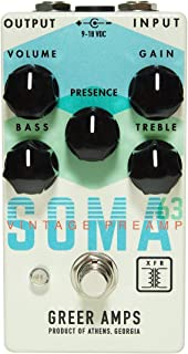 Greer Amps SOMA '63 Vintage Preamp Guitar Effect