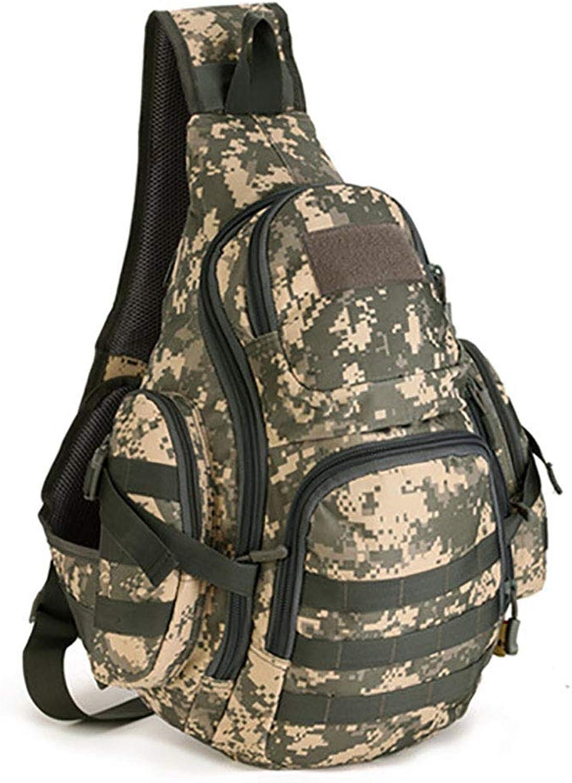 Military Sling Bag Chest Pack Tactical Chest Bag Shoulder Sling Backpack Bag for Laptops Hiking Camping Hunting Trekking