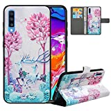 LFDZ Compatible with Samsung A70 Case, PU Leather Galaxy A70...