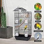 Yaheetech Cage à Oiseaux 46 x 35,5 x 99 cm avec 3 Jouets Poignée Portable 4 Mangeoires 3 Perchoirs Cage pour Perruche Calopsitte Conure Pinson Canaris #2