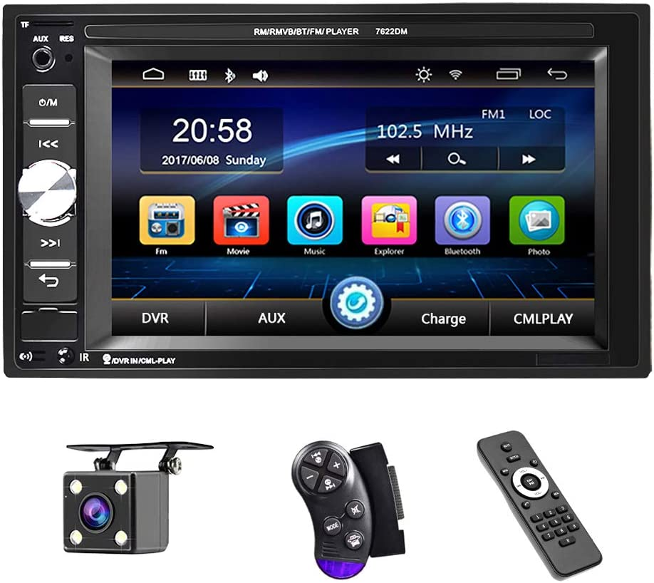 UNITOPSCI Car Easy-to-use Multimedia Player Spring new work one after another Double Bluetooth and Din Audio