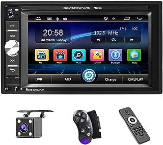 پخش کننده چند رسانه ای UNITOPSCI Car - Double Double، Bluetooth Audio and Calling، مانیتور صفحه نمایش لمسی 6.2 اینچی LCD ، MP5 Player ، WMA ، USB ، SD ، ورودی کمکی ، گیرنده رادیو FM Camera دوربین پشتیبان