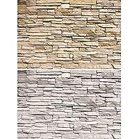 GREAT ART Juego de 2 carteles XXL - paredes de piedra clara - cada uno diseño industrial loft óptica pared paneles foto de piedras decoración natural poster (140 x 100 cm)