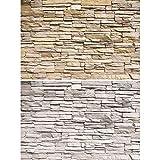 GREAT ART Set di 2 XXL Poster – Muro in Pietra Chiara – Design Industriale Loft Fotomurale Ottica di Pietra Naturale Decorazione da Parete Pittura Murale Carta da Parati (140 x 100cm)