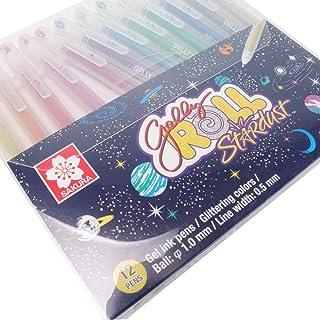 SAKURA [Limited Edition] Gelly Roll Stardust Gel Ink Pen Set - Bold Sparkling, Glittering & Assorted Colors 12Pens