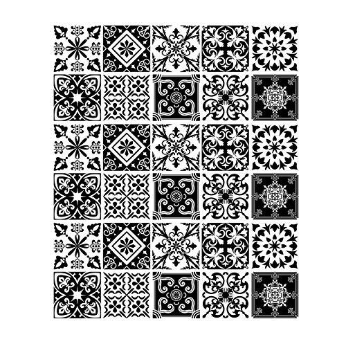 Gwotfy Adesivi per piastrelle 30pcs Adesivi per piastrelle a mosaico Autoadesivi Impermeabile Adesivo per piastrelle da cucina per pavimento per bagno Adesivo per trasferimenti di piastrelle a mosaico