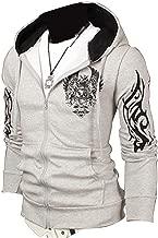jeansian Men's Slim Fit Casual Top Jacket Hoodie Coat Tops 9304