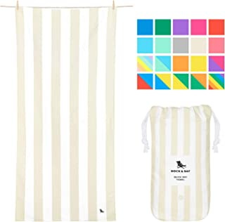 Dock & Bay Lightweight Beach Towel for Travel - Bora Bora Beige, Extra Large (200x90cm, 78x35) - Fast Dry Towel for Swim, Camping Towel for Outdoors