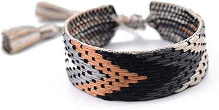 N/A Sieraden Dragon knoop etnische stijl handgeweven paar lint armband kleurrijke kwastje armband met doos Moederdag Kerst...