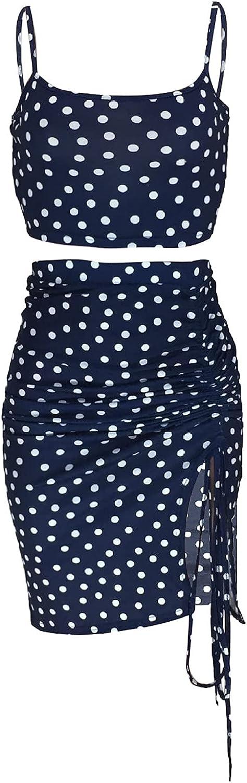 Ladies Polka Dot Printed Two-Piece Fashion Sexy Sling Set