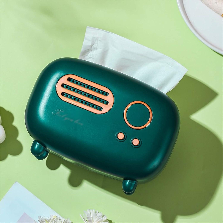 Color : A JIANCHI Retro Radio Model Tissue Box Desktop Paper ...