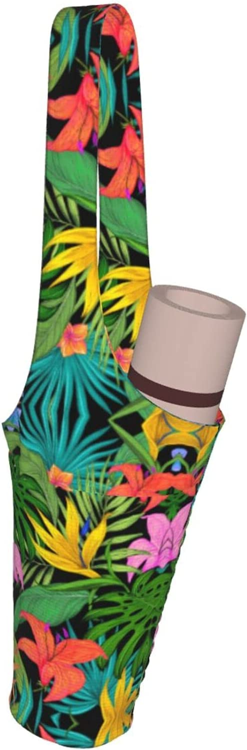 Wmllsno Yoga Mat Bag Fort Worth Genuine Free Shipping Mall And Leaves Tropical Carrier Large Size