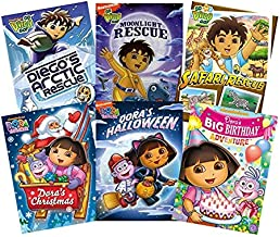 Dora & Diego Ultimate Nick Jr. 6-Pack DVD Collection (Dora's Christmas / Dora's Halloween / Dora's Big Birthday Adventure / Diego's Arctic Rescue / Diego's Moonlight Rescue / Diego's Safari Rescue)