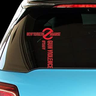 PressFans - NYAGV New YORKERS Against Gun Violence Car Laptop Sticker Decal