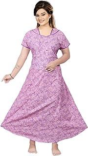 A-Y Fashion Cotton Gown / Dress for Women / Anarkali Nighty / Maxi Nighty