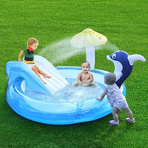 AIHOME Centro de juego acuático inflable, piscina para bebés piscina para niños, piscina inflable para niños, fácil de montar