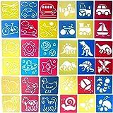 Zoohot 36 piezas plantillas de animales plantillas de transporte plantillas de insectos y dibujo de arte para niños