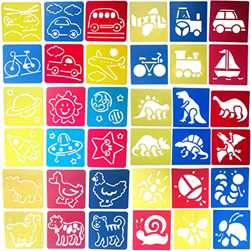 zoohot 36 Pezzi Stencil Animali Stencil per Il Trasporto Bug Stencil e disegnare Arte per Bambini