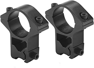 1 Inch, High Profile, 11mm Dovetail, See-Thru, Scope Mount Rings