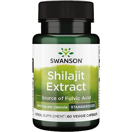 Swanson Shilajit Extract 400 Milligrams 60 Veg Capsules