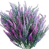 SnailGarden Lot de 6 Flores Artificiales de Lavanda,Ramo de Lavanda pour Mariage,Fiançailles,Décoration Intérieure ou Extérieure