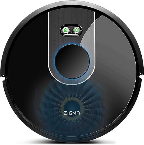 Zigma Robot Aspirador, Navegación Láser, Captura Alérgeno, Fuerte Succión, Barre, Friega, App Control con Múltiple Ma...