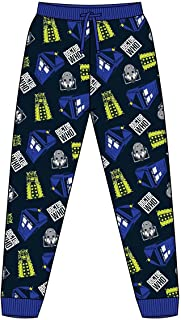 Mens Official Doctor Who Loungepants | Mens Loungewear All Over Print Pyjama Bottoms, Size Small - X-Large