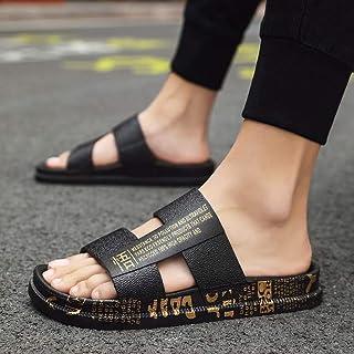 Gangxia 夏季拖鞋男个性潮牌人字凉拖网红韩版外穿室外凉鞋沙滩时尚