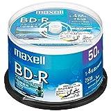 maxell 録画用 BD-R 標準130分 4倍速 ワイドプリンタブルホワイト 50枚スピンドルケース BRV25WPE.50SP