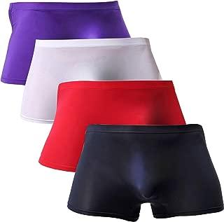 Men Briefs Breathable Ice Silk Boxer Bikinis and Briefs N05