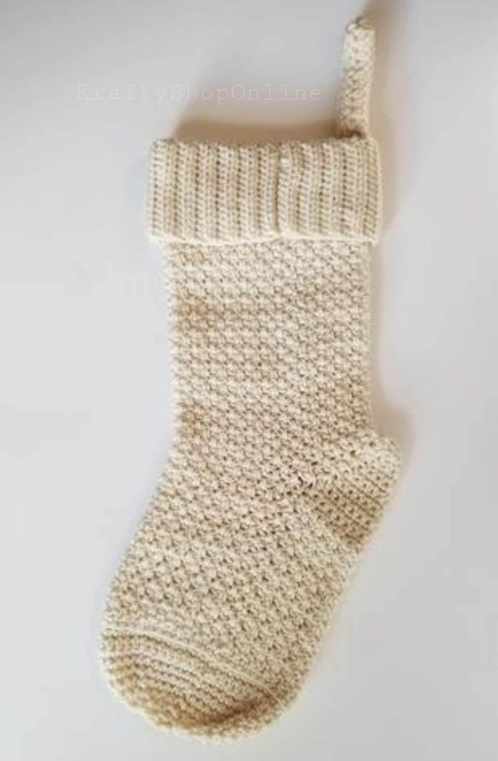 Handmade Christmas Stocking NEW before selling - Opening large release sale Crocheted Color Choices