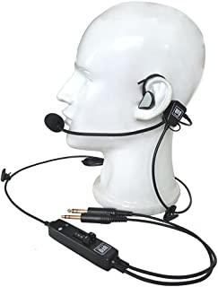 UFQ in-Ear Type Aviation Headset UFQ L-1 Super Light Weight - Quiet as ANR Free with a Bag, Great Sound Quality for Music with MP3 Input