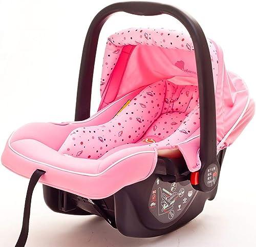 ZZKJCCF Baby Cradle Safe Schaukelstuhl, Infant Bouncers Und Rockers, Swings Chair Bouncers, Beruhigt Den Schlaf des Babys Artefakt, Die Newborn Sleeping Rocking Cradle,Rosa