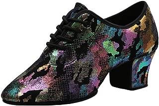 Aiweijia Women's Comfortable Latin Dance Shoes Adult mid heel Modern shoe