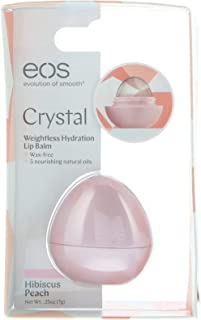 EOS, Crystal, Weightless Hydration Lip Balm, Hibiscus Peach, 0.25 oz (7 g)
