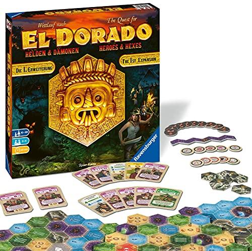 Ravensburger 26790 - El Dorado Helden und Dämonen - Erste Erweiterung, Strategiespiel, Spiel für Erwachsene und Kinder ab 10 Jahren - Taktikspiel für 2-4 Spieler