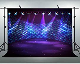 FLASIY 10X7FT Prom Party Themed Photo Backdrop Glitter Spotlight Stage Photography Background for Club Party Video Photo Studio Props AYY024