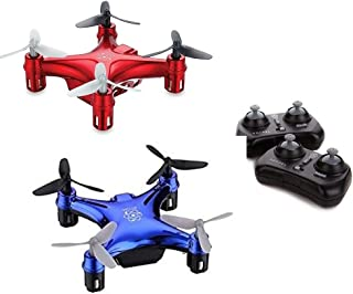 Propel RC Atom 1.0 Micro Drone Wireless Quadrocopter 2-Pack (Red/Blue)