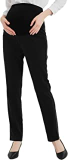 Maternity Jeans Stretch High Waisted Pants,Dress Pants for Work Career Office Pants