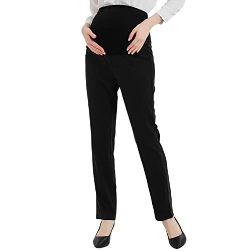 165d2a15e42fe Bhome Maternity Jeans Stretch High Waisted Pants,Dress Pants for Work  Career Office Pants