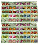Set of 100 Assorted Valley Green Flower Seed Packets! Flower Seeds in Bulk - 20+ Varieties Included
