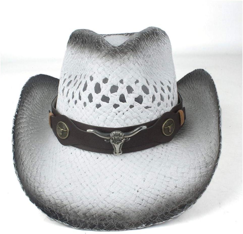 SHAONANSHI Men Women Straw Western Cowboy Fresno Mall Summer Brim H Wide Hat Ranking TOP5