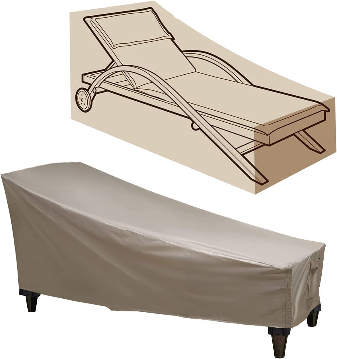 Patio It is very popular Lounge Chair Cover SEAL limited product Duty Heavy Chaise Outdoor