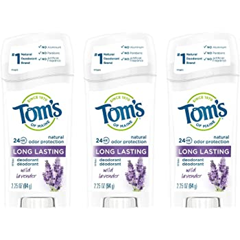 Tom's of Maine Long-Lasting Natural Deodorant, Wild Lavender, 6.75 Ounce